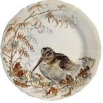 Sologne Dessert Plate - Woodcock