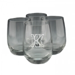 Stemless Wine Glasses - Personalized, Set of Four
