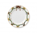 Star Fluted Christmas Salad Plate