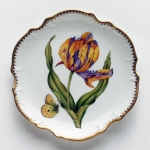 Old Master Tulips Purple and Yellow Tulip Bread and Butter Plate