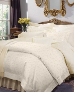 Giza 45 Jacquard White King Flat Sheet