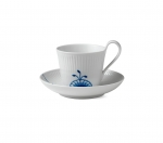 Blue Mega High Handle Tea Cup and Saucer