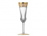 Thistle Gold Champagne Flute, Clear