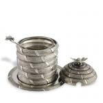 Pewter Hive Honey Pot with Spoon