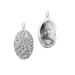 Sterling Silver Oval Half-Locket