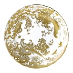 Gold Aves Dinner Plate Perfectly round, this dinner plate is an ideal finishing touch for sophisticated dining. Showcasing design excellence through its hand decorated 22 carat gold, the Aves range is perfect to complement a dining experience or afternoon tea setting.