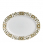 Derby Panel Green Medium Oval Platter