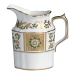 Derby Panel Green Creamer Jug