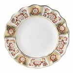 Derby Panel Red Fluted Dessert Plate