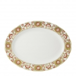 Derby Panel Red Medium Oval Platter