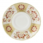 Derby Panel Red Cream Soup Saucer