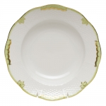 Princess Victoria Green Rim Soup Plate