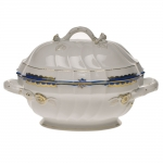 Princess Victoria Blue Tureen with Branch Handles
