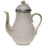 Princess Victoria Blue 36 Ounce Coffee Pot with Rose