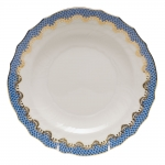 Fish Scale Blue Dessert Plate