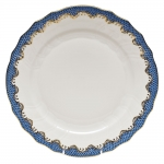 Fish Scale Blue Dinner Plate