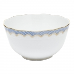 Fish Scale Light Blue Round Bowl
