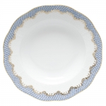 Fish Scale Light Blue Rim Soup Plate