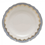 Fish Scale Light Blue Salad Plate