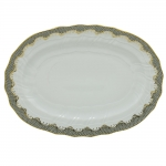 Fish Scale Gray Oval Platter