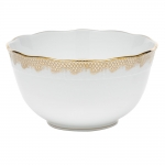 Fish Scale Gold Round Bowl