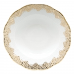 Fish Scale Gold Rim Soup Plate