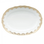 Fish Scale Gold 15\ Oval Platter