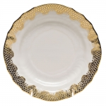 Fish Scale Gold Bread and Butter Plate