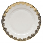 Fish Scale Gold Dinner Plate