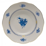 Chinese Bouquet Blue Rim Soup Plate