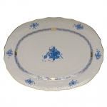 Chinese Bouquet Blue 17\ Oval Platter