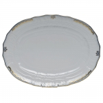 Princess Victoria Light Blue Oval Platter