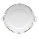 Princess Victoria Light Blue Chop Plate with Handles