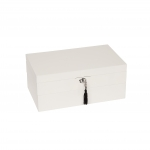 Stackable High-Gloss Jewelry Box, White