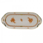 Chinese Bouquet Rust Sandwich Tray