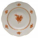 Chinese Bouquet Rust Rim Soup Plate