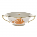 Chinese Bouquet Rust Cream Soup Cup