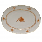 Chinese Bouquet Rust 17\ Oval Platter