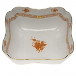 Chinese Bouquet Rust Square Salad Bowl