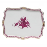 Chinese Bouquet Raspberry Small Tray