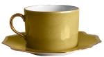 Anna\'s Palette Meadow Green Tea Cup Saucer