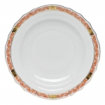 Chinese Bouquet Garland Rust Salad Plate
