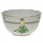 Chinese Bouquet Green Round Bowl