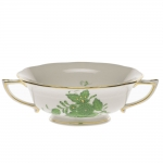 Chinese Bouquet Green Cream Soup Cup