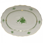 Chinese Bouquet Green 17\ Oval Platter