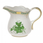 Chinese Bouquet Green 10 Ounce Creamer
