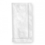 Acanthus White Dinner Napkins, Set of Four