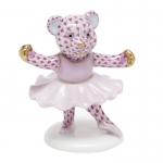 Ballerina Bear Figurine in Raspberry