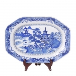 Blue & White Rectangular Canton Platter