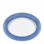 Blue Lace Oval Platter